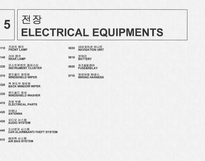 5 electrical equipments
