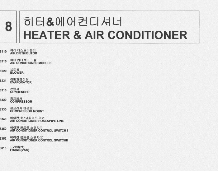 8 heater and air conditioner