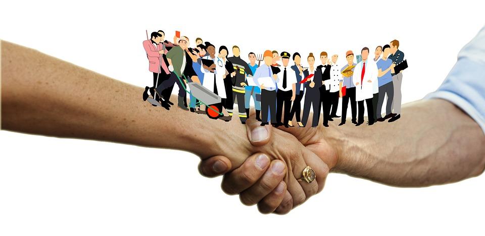 about us Handshake Shaking