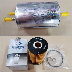 Genuine Fuel Filter Oil Filter 2 piece Ssangyong KORANDO G20DT