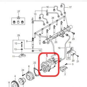 Remanufactured Fuel Pump 6650700401 for ACTYON KYRON REXTON D20DT D27DT