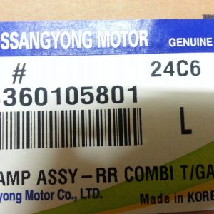 Rear Combi Tail Gate Lamp Left 8360105801 Ssangyong MUSSO