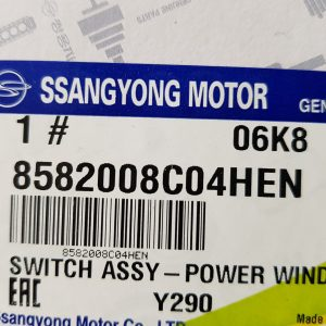 Power Window Main Switch Left 8582008C04HEN Ssangyong REXTON 12MY~17