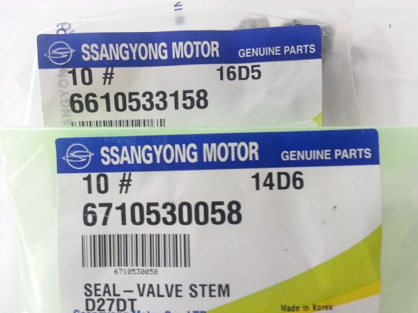 Exhaust & Intake Valve Stem Seal 10 pcs Ssangyong MUSSO SPORTS KORNADO