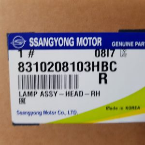Genuine Head Lamp Right 8310208103HBC for Ssangyong REXTON 01~06 LHD