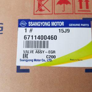 Ssangyong EGR Valve 6711400460 RODIUS STAVIC, KORANDO SPORTS D20R D22R