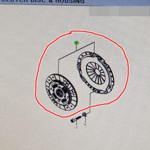Genuine Clutch Disc Cover Set 30A0021412 Ssangyong RODIUS KYRON +D27DT
