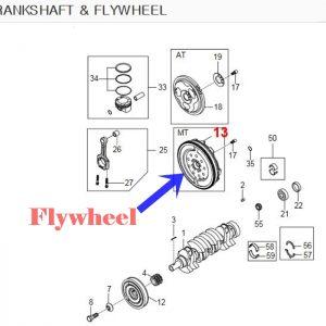 Genuine Mech Flywheel Ssangyong REXTON G4, NEW MUSSO 6-MT, D22DTR