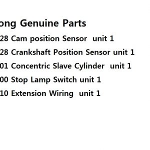 Genuine Sensor, Slave Cylinder,Stop Switch 5 pcs Ssangyong ACTYON SPORTS