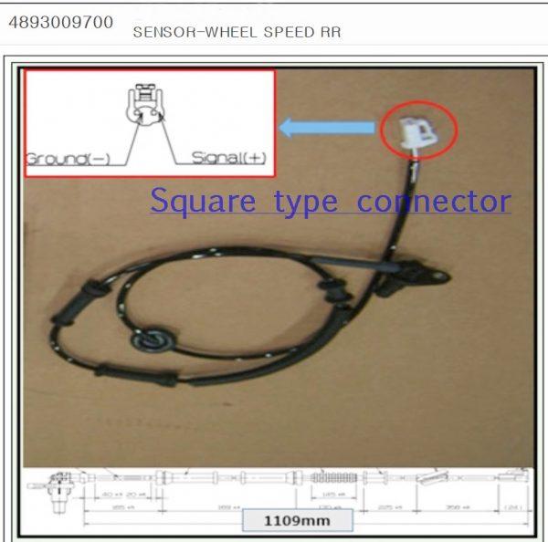 Ssangyong Rear Wheel Speed Sensor for KYRON REXTON ABS/ESP+Multi Link