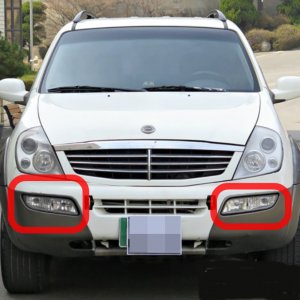 Genuine Front Combi Lamp with Fog Pair 8320108522+ for Ssangyong REXTON 2001~2006