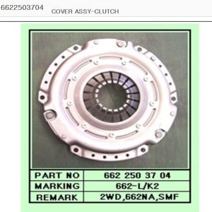 Genuine Clutch Disc,Cover,Release Bearing 3 Piece for KORNADO +2WD,662N