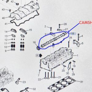 Genuine CAMSHAFT for Chevrolet WINSTORM +2.0 Diesel