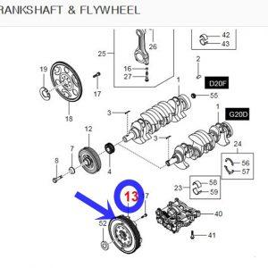 Dual Mass Fly Wheel for Ssangyong KORNADO +G20DT 2012~2018