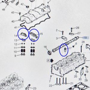 Hydraulic valve Adjust, Intake/Exhaust Valve Rocker Arm for WINSTORM +2.0Diesel
