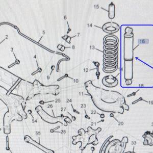 Genuine Rear Leveling Shock Absorber Pair Chevrolet WINSTORM +AWD,DISC