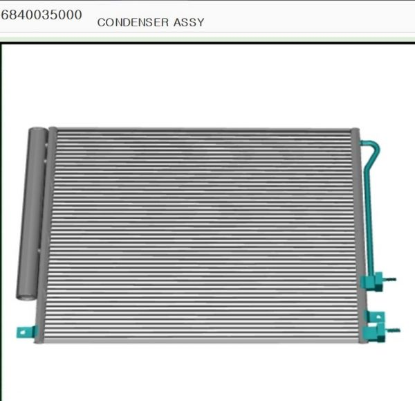 Genuine Condenser #6840035000 for Ssangyong TIVOLI