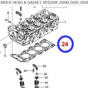 Genuine 4 Cylinder Head Gasket REXTON,KORANDO SPORTS,STAVIC